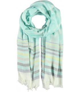 Passigatti mint patterned woven scarf/wrap