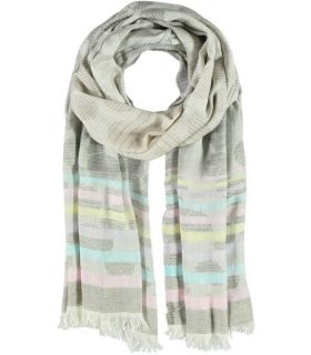 Passigatti Grey Patterned Scarf/Wrap