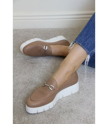 Unisa Tan leather wedge loafer  FAMO