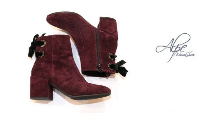 ALPE BURGUNDY SUEDE ANKLE BOOT
